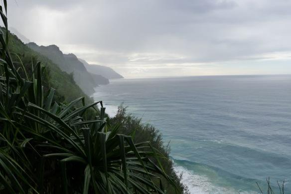 View from the Kalalau trail on the Na Pali coast of Kauai