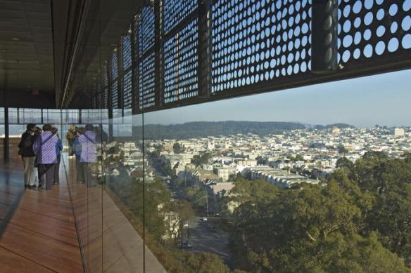Thank you, Lonely Planet, for this awesome photo of the top floor of De Young.