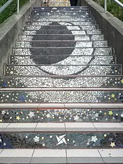 A small part of the beautiful mosaic at Moraga Stairs.