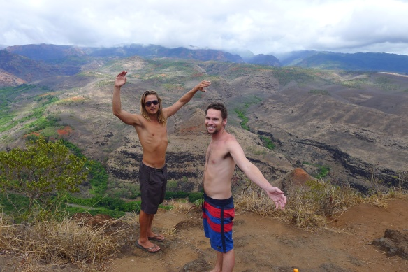 One quick stop on the way to the Waimea Canyon lookout. This is just the beginning.