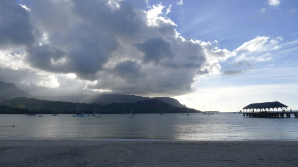 Hanalei Bay on a gorgeous early morning.