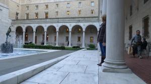Inner courtyard of Boston's Public Library