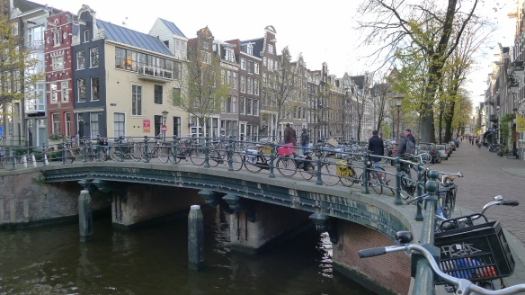 Canals and bikes; bikes and canals - Amsterdam is both old Europe and very modern Europe at the same time