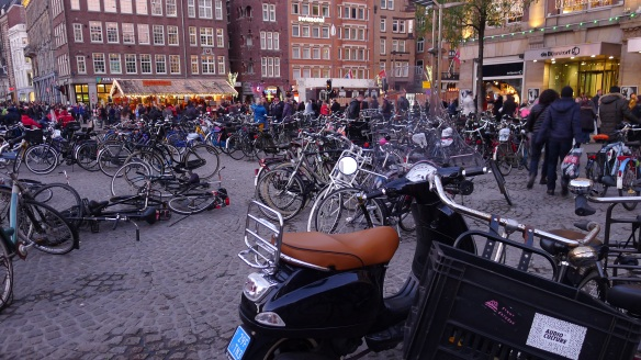 Of the 1 million bikes in Amsterdam, about 25,000 end up un canals each year and 100,000 are stolen!