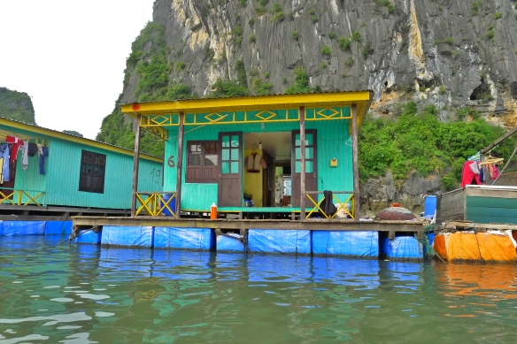 The floating villages of Ha Long are picturesque enough but you can also trace the human debris right back to them; so in the name of nature preservation they will all be gone in a few years