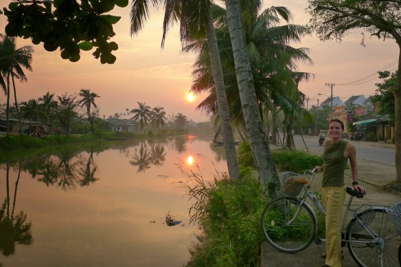 Glorious sunsets in the wet landscape of little Vietnamese Venice