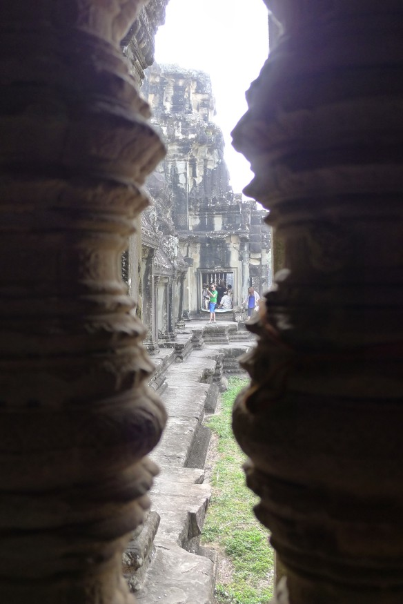 Glimpses from inside Angkor Wat.