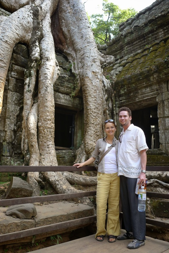 The traditional Ta Prohm photo whic is a tourist must-have, as the 15-minute long line for it stands to show