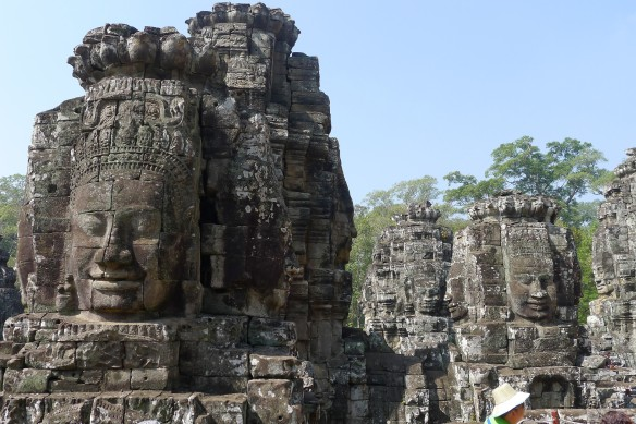 The many faces of the Bayon Buddha, suspected by experts to resemble Jayavarman's own face very closely.