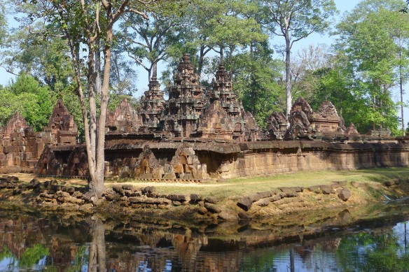Here's a funny story about Banteai Srei and a French culture minister: In 1923, French writer Andre Malraux undertook an expedition into then unexplored areas of the Cambodian jungle in search of Khmer artefacts that he could sell to  art museums. On his return, he was arrested by French colonial authorities for removing a bas-relief from Banteay Srei. After his return to France Malraux got involved in politics and became French minister of ... Cultural Affairs for eleven year, between 1958 to 1969. Voila!