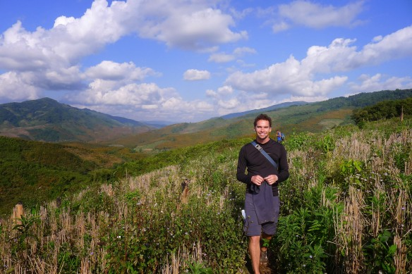 When the sun finally came out on our last day of trekking, the landscape was  lovely and lush.