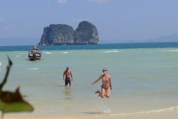 One of the four islands we toured in the Andaman sea - some of the bluest water I've ever seen...