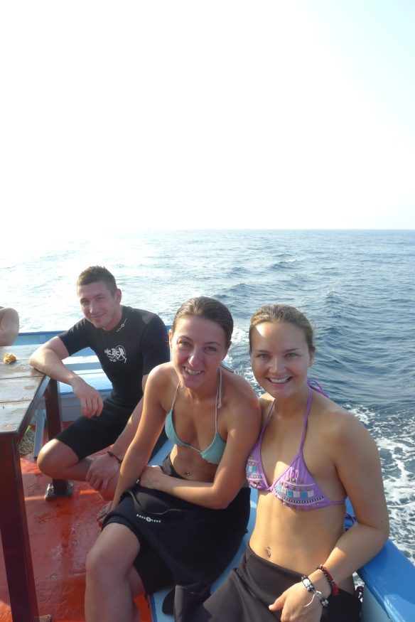 With my diving buddies, Lindsay and Mike, who stopped on Koh Tao on their way to Australia, where they were moving from the UK.