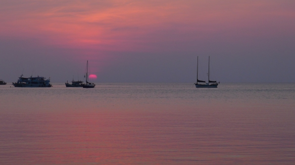 """Aside from the """"diving Island"""" Koh Tao is also the island of gorgeous sunsets..."""